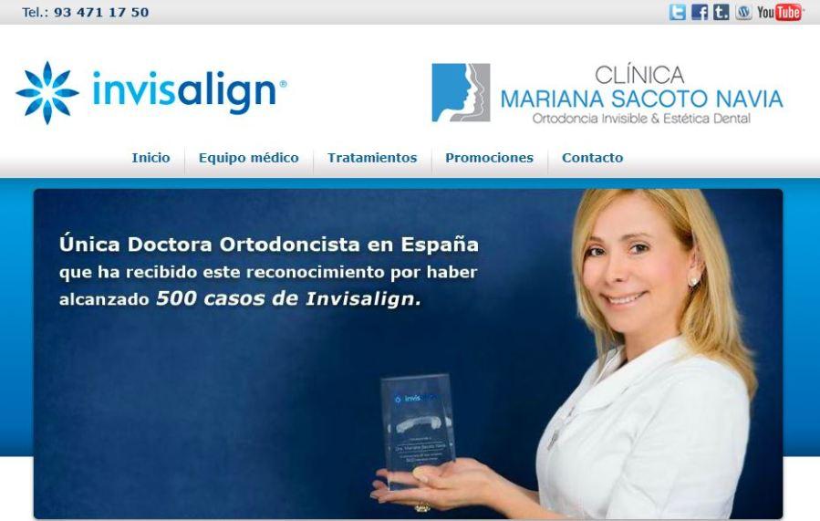 Captura web clínica Mariana Sacoto Navia