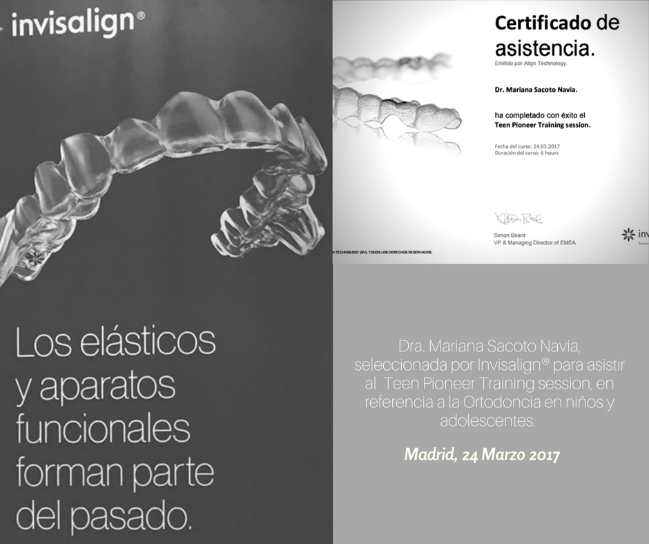Clinica de Ortodoncia Invisalign Invisible Mariana Sacoto Navia Teen Pioneer Training sesion